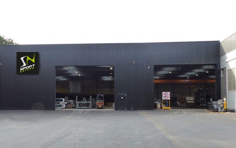 Le batiment de stockage créé en 2015